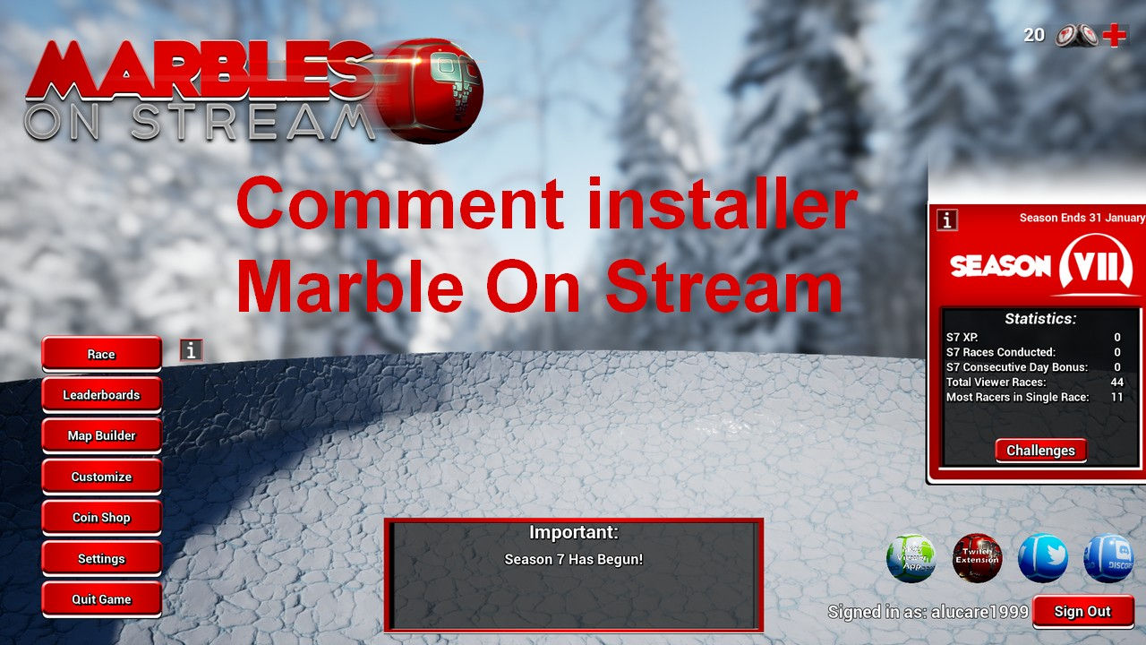 Comment installer Marble on stream