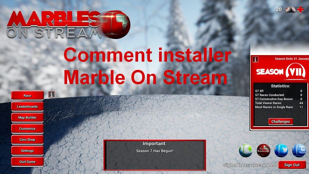 Comment installer Marble on stream