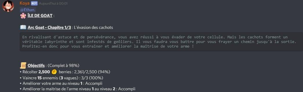 ÎLE DE GOAT / Arc Goat – Chapitre 1/3