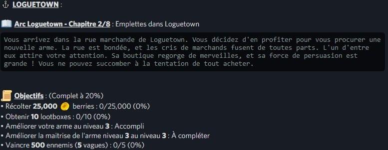 LOGUETOWN / Arc Loguetown – Chapitre 2/8