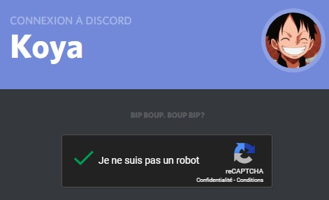 Validation par captcha