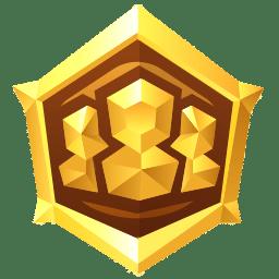 Médaille support en or