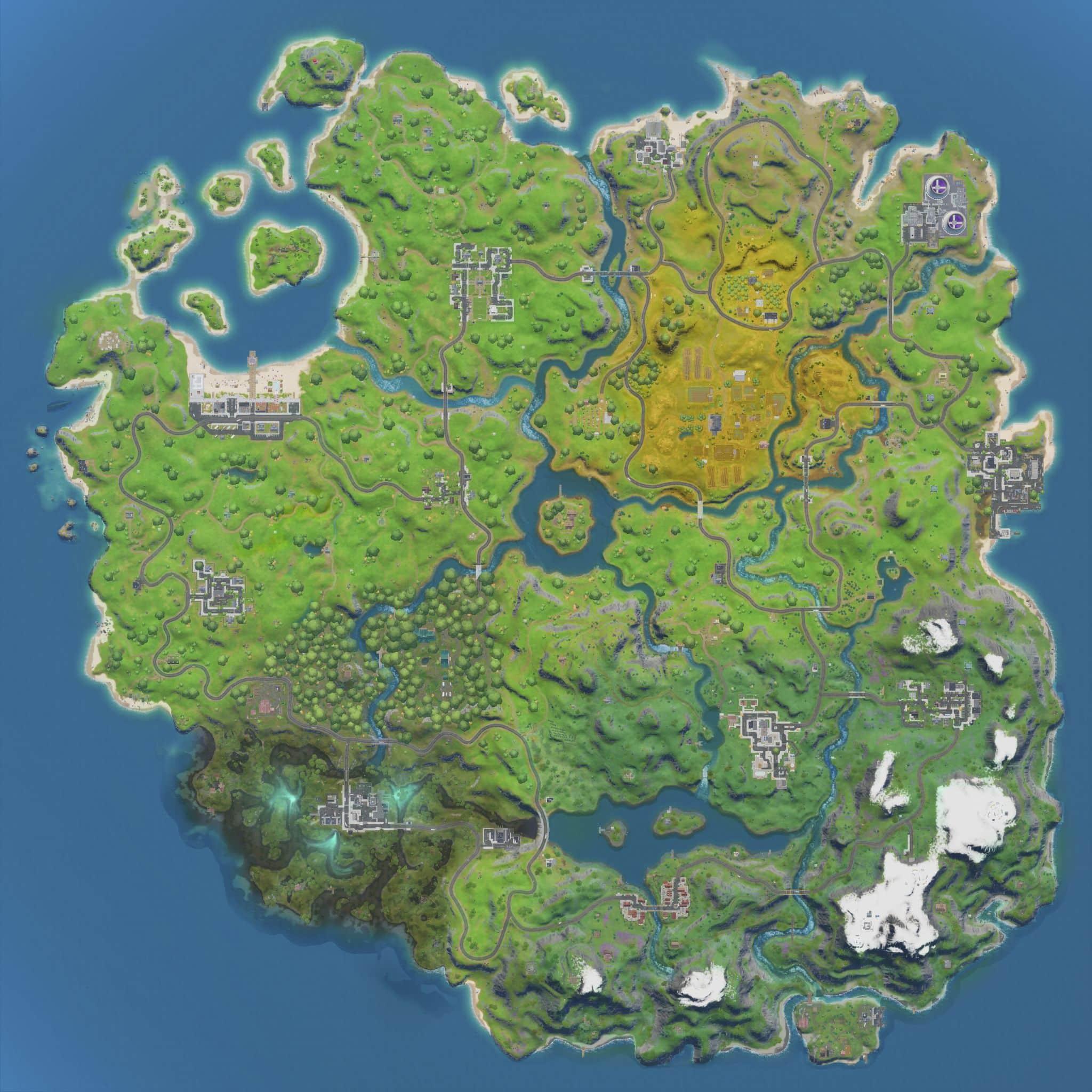 map fortnite chapitre 2 en meilleur qualité