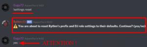 Réinitialisation Rythm !!!