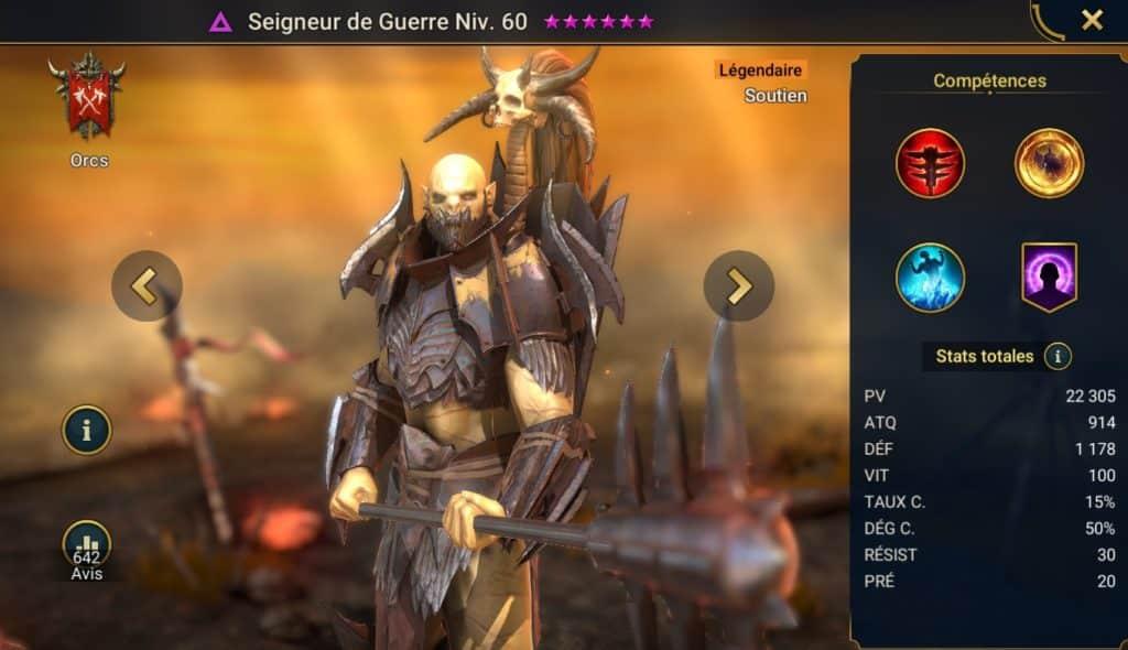 Seigneur de Guerre guide complet stuff