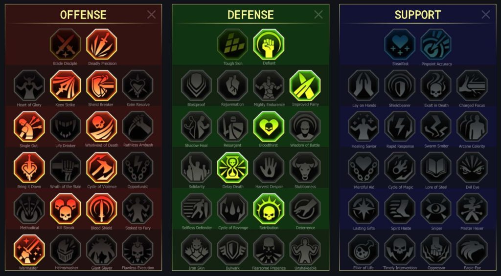 masteries faction Galek Suprême