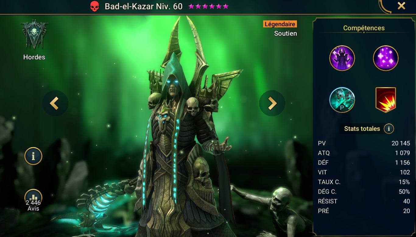 guide RSL pour Bad-el-Kazar, maitrises et artefact