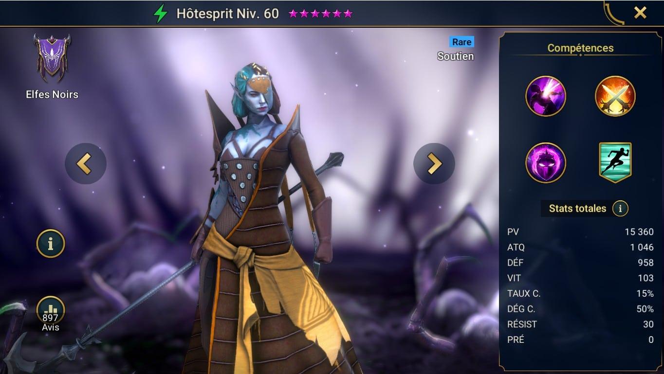 guide maitrises et artefact raid shadow legend sur Hôtesprit (Spirithost)