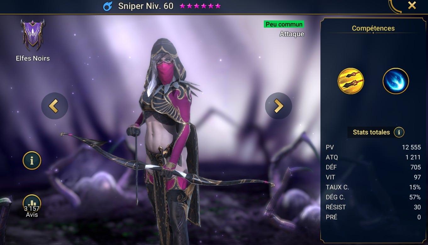 guide raid shadow legend sniper pour ses maitrises et artefact