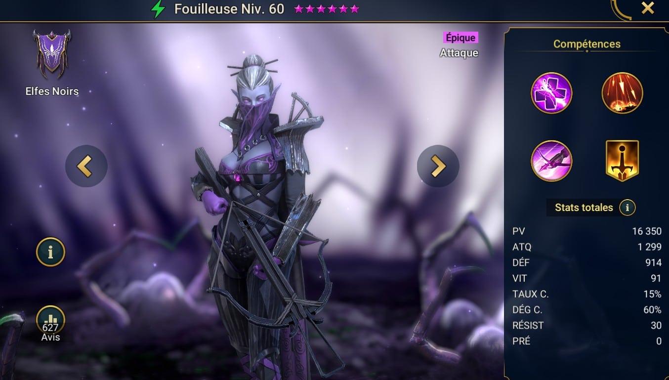 guide sur delver (Fouilleuse), raid shadow legend maitrises et artefact