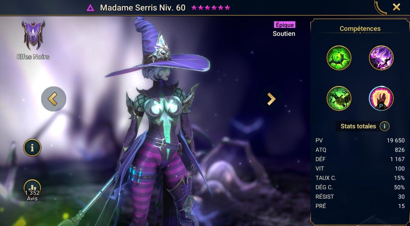 guide maitrises et artefact Madame Serris