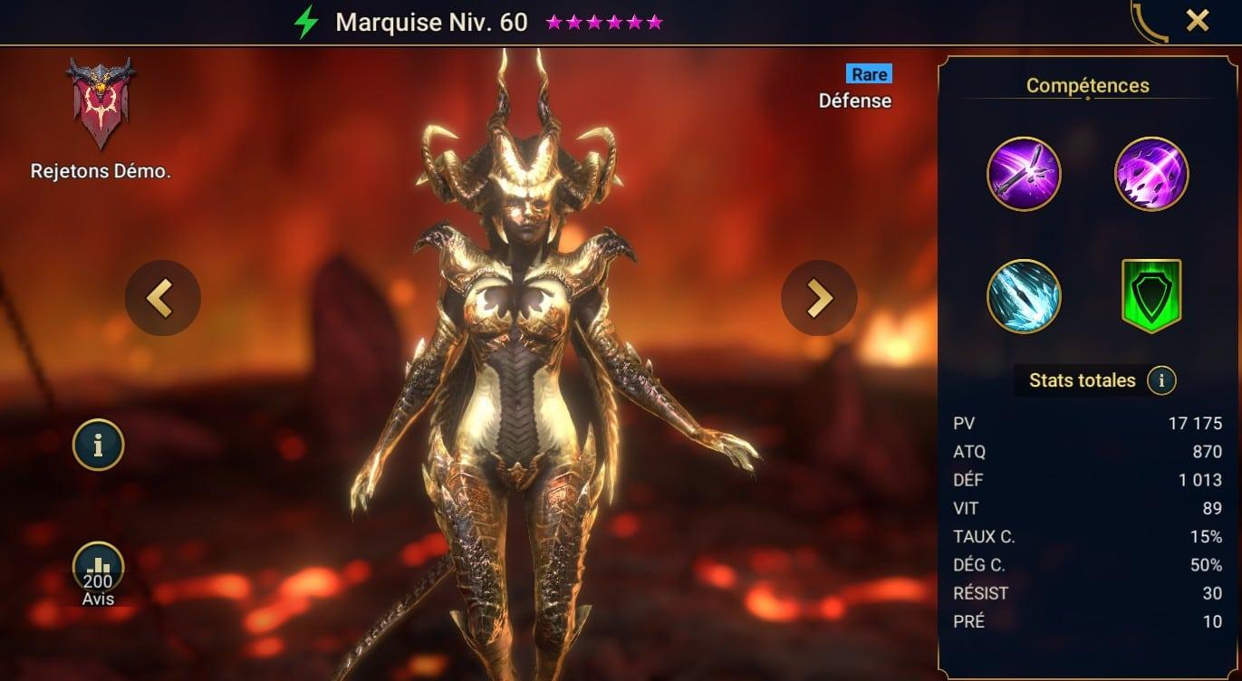 guide maitrises et artefact Marquise (Marquess)