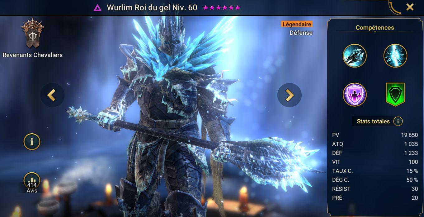 guide maitrises et artefact Wurlim Roi du Gel (Wurlim Frostking)