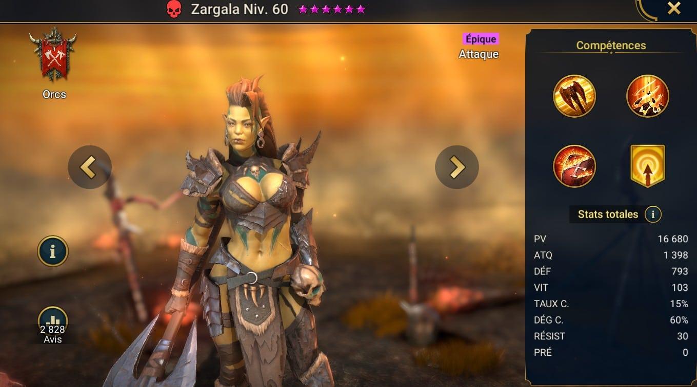 guide maitrises et artefact Zargala
