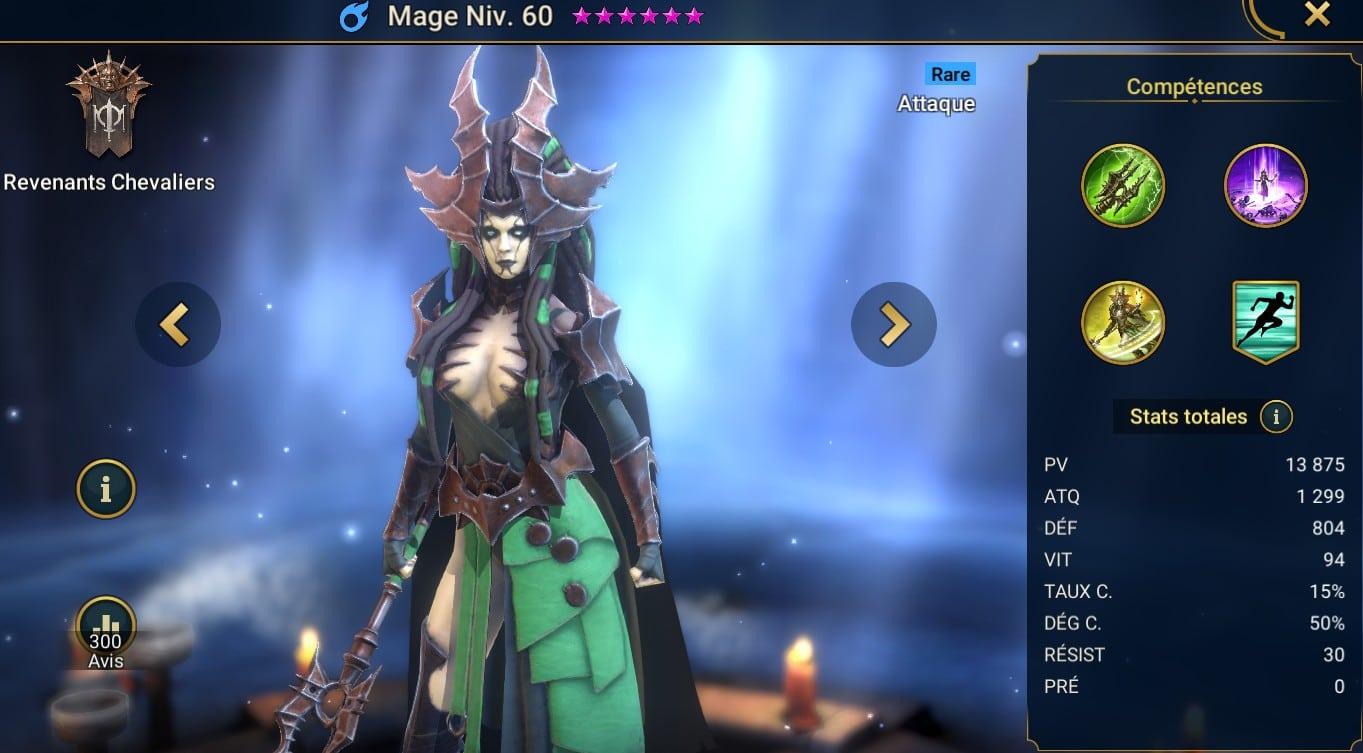 guide maitrises et artefact pour le champion Mage (Magus)