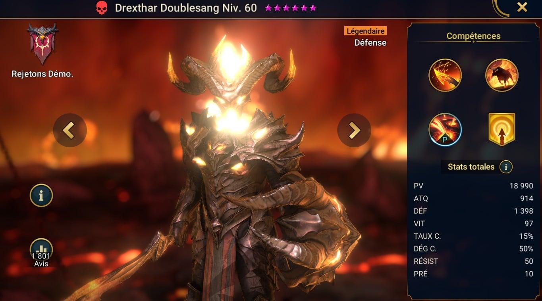 guide maitrises et artefact sur Drexthar Doublesang (Drexthar Bloodtwin)