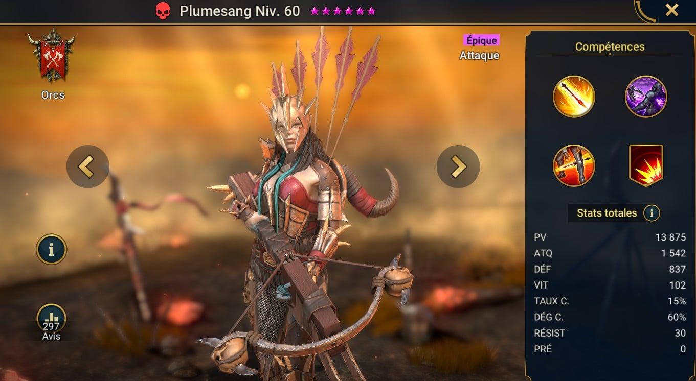 guide maitrises et artefact sur Plumesang (Bloodfeather)