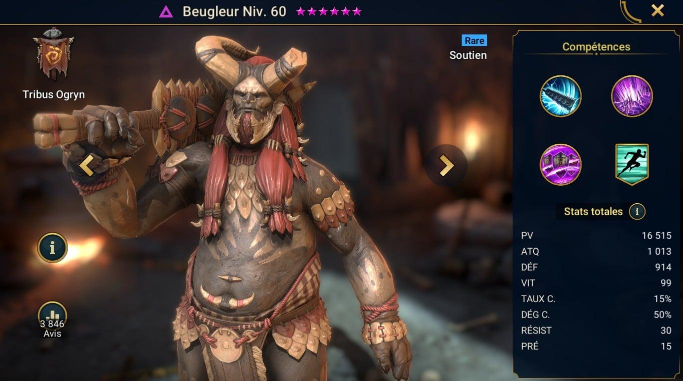 guide masteries et artefact sur Beugleur (Bellower)