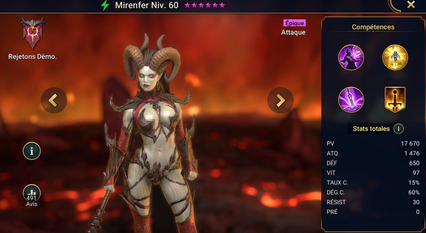 guide sur Mirenfer (Hellgazer) maitrises et artefact