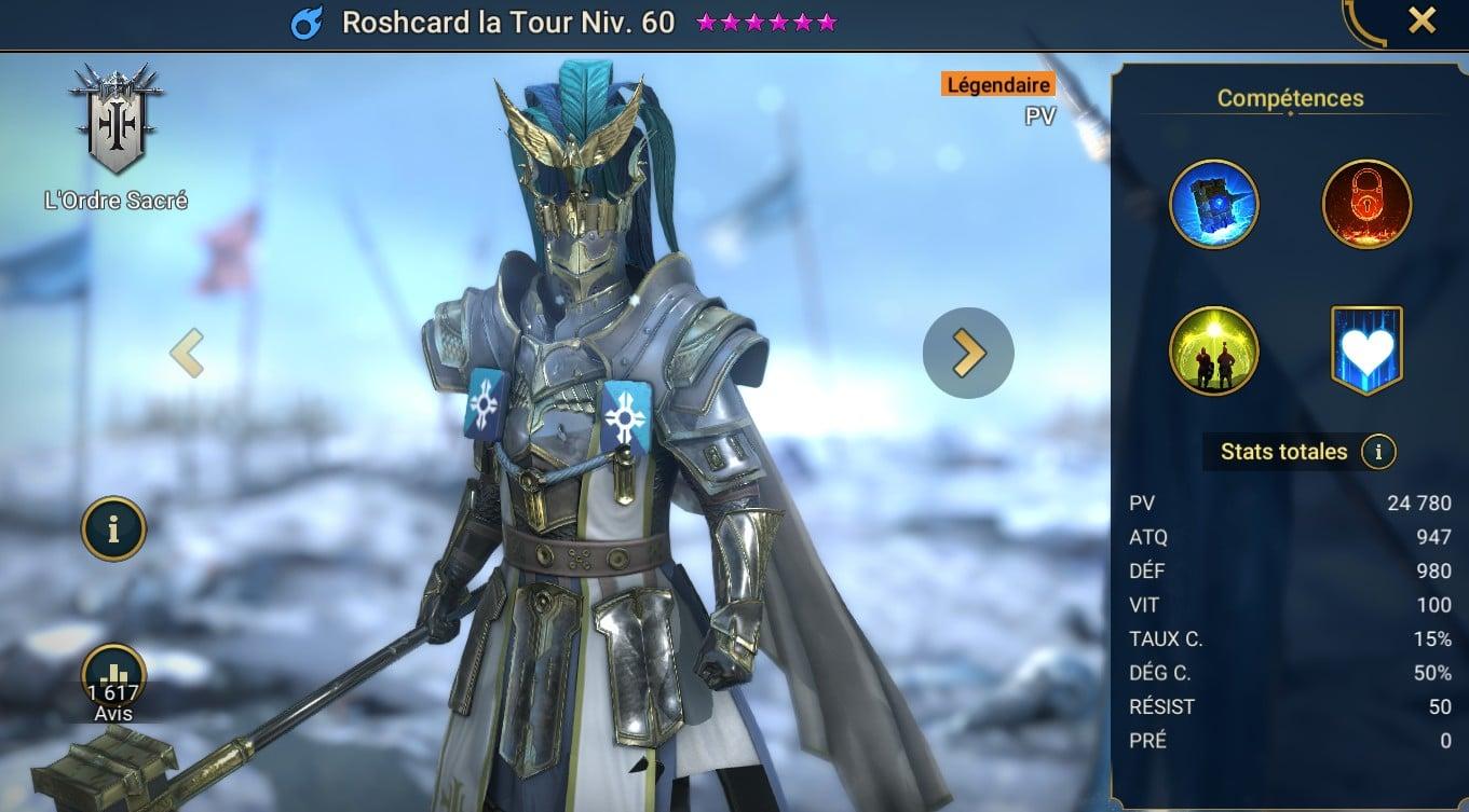 guide sur Roshcard la tour (Roshcard the Tower) maitrises et artefact