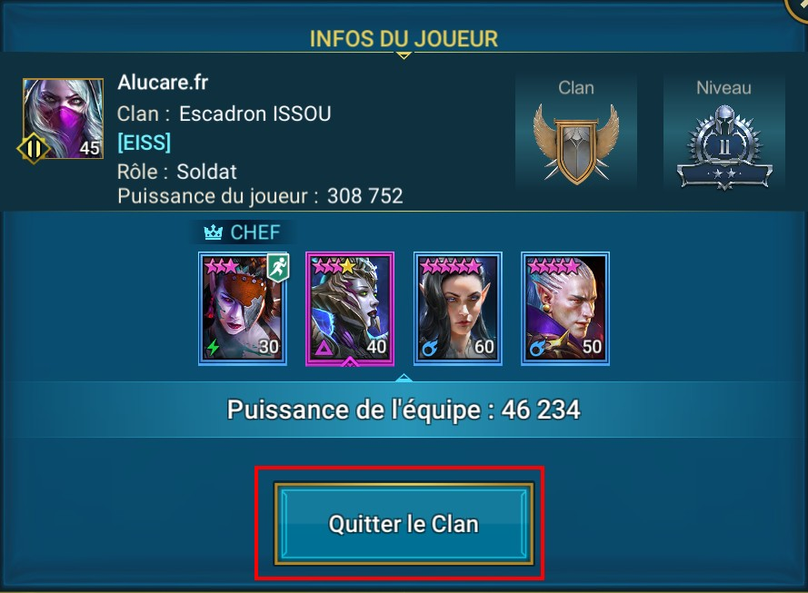 quitter le clan