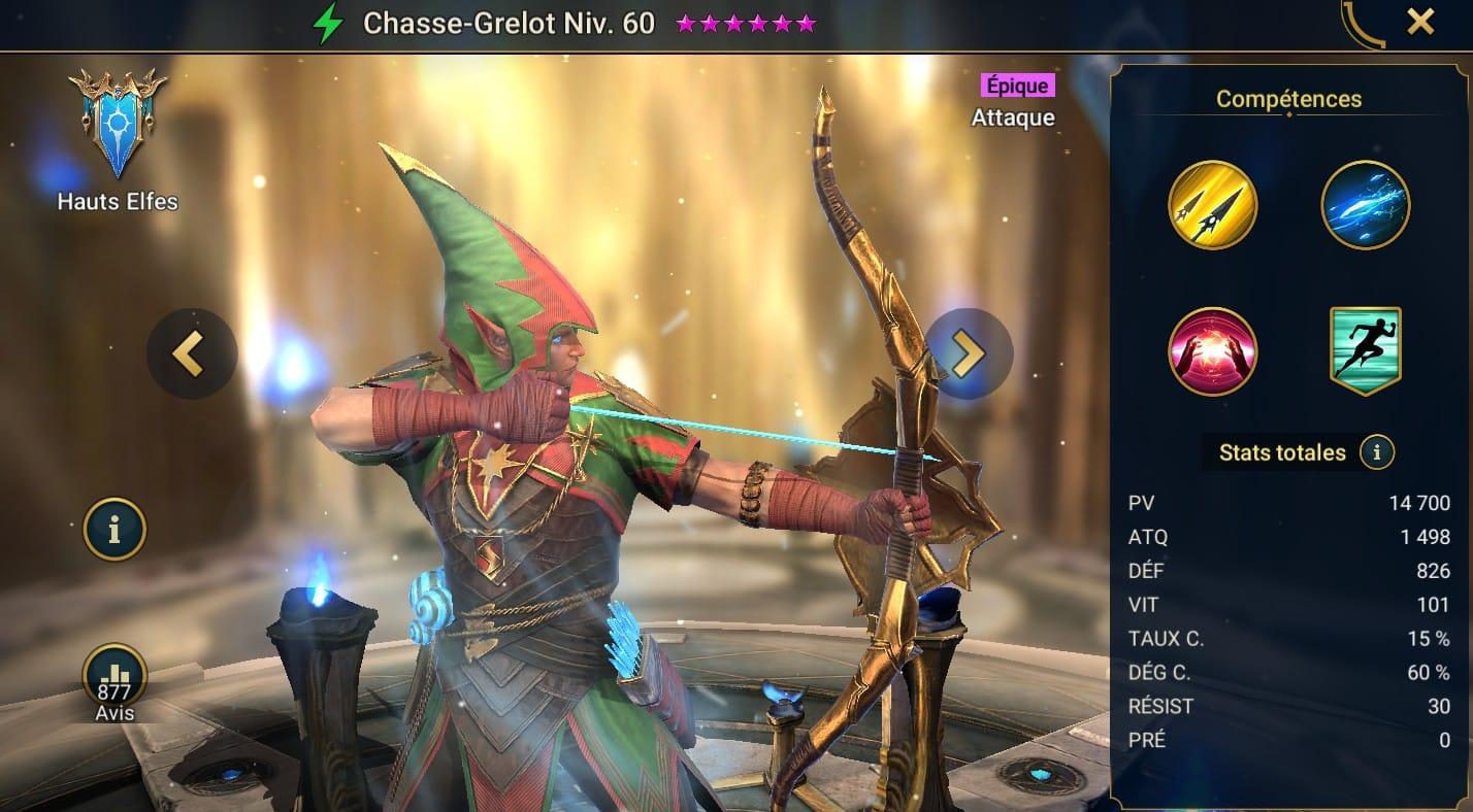 guide maitrises et artefact Chasse-Grelot (Jinglehunter)