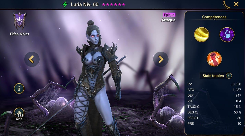 guide maitrises et artefact Luria