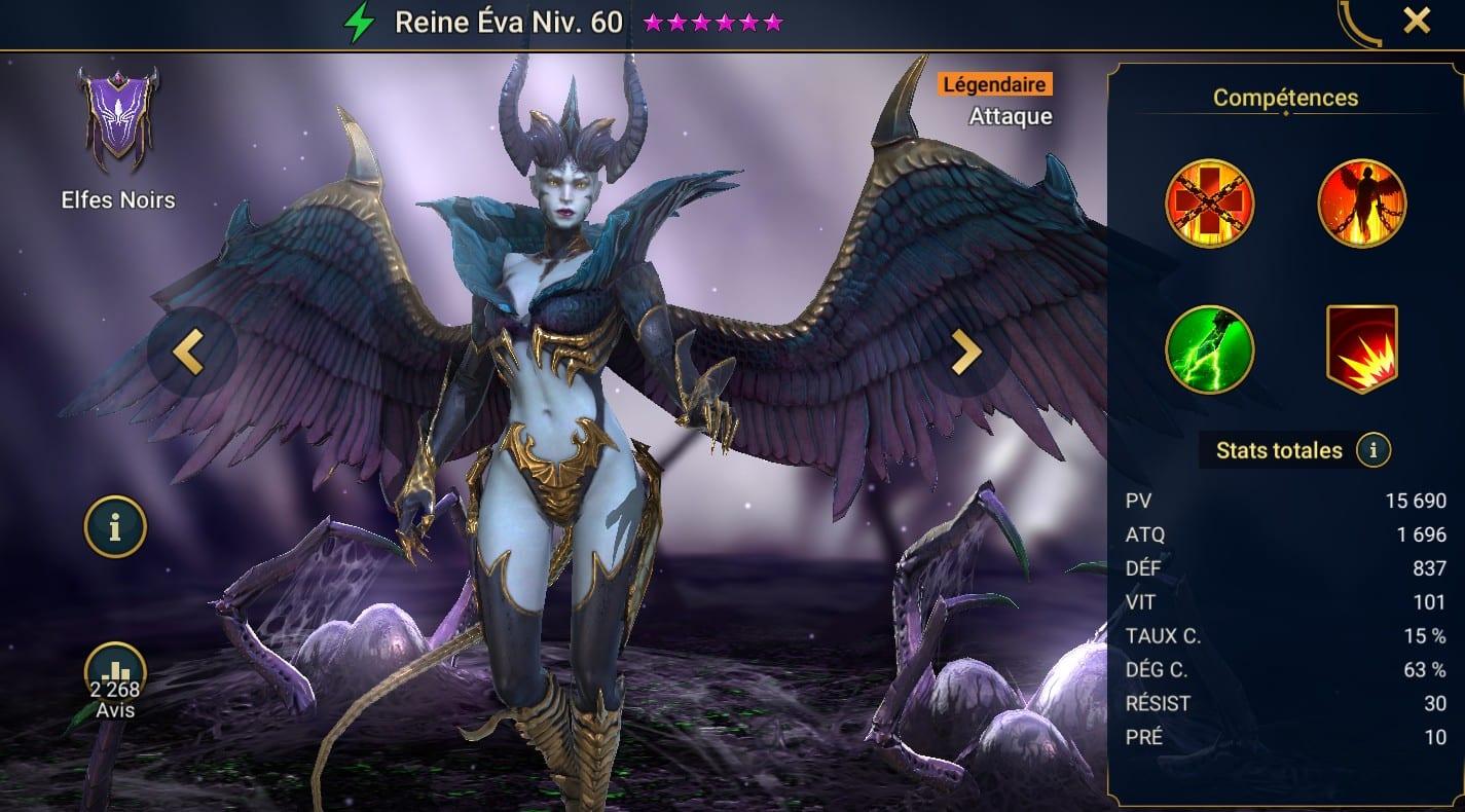guide maitrises et artefact Reine éva (Queen Eva)