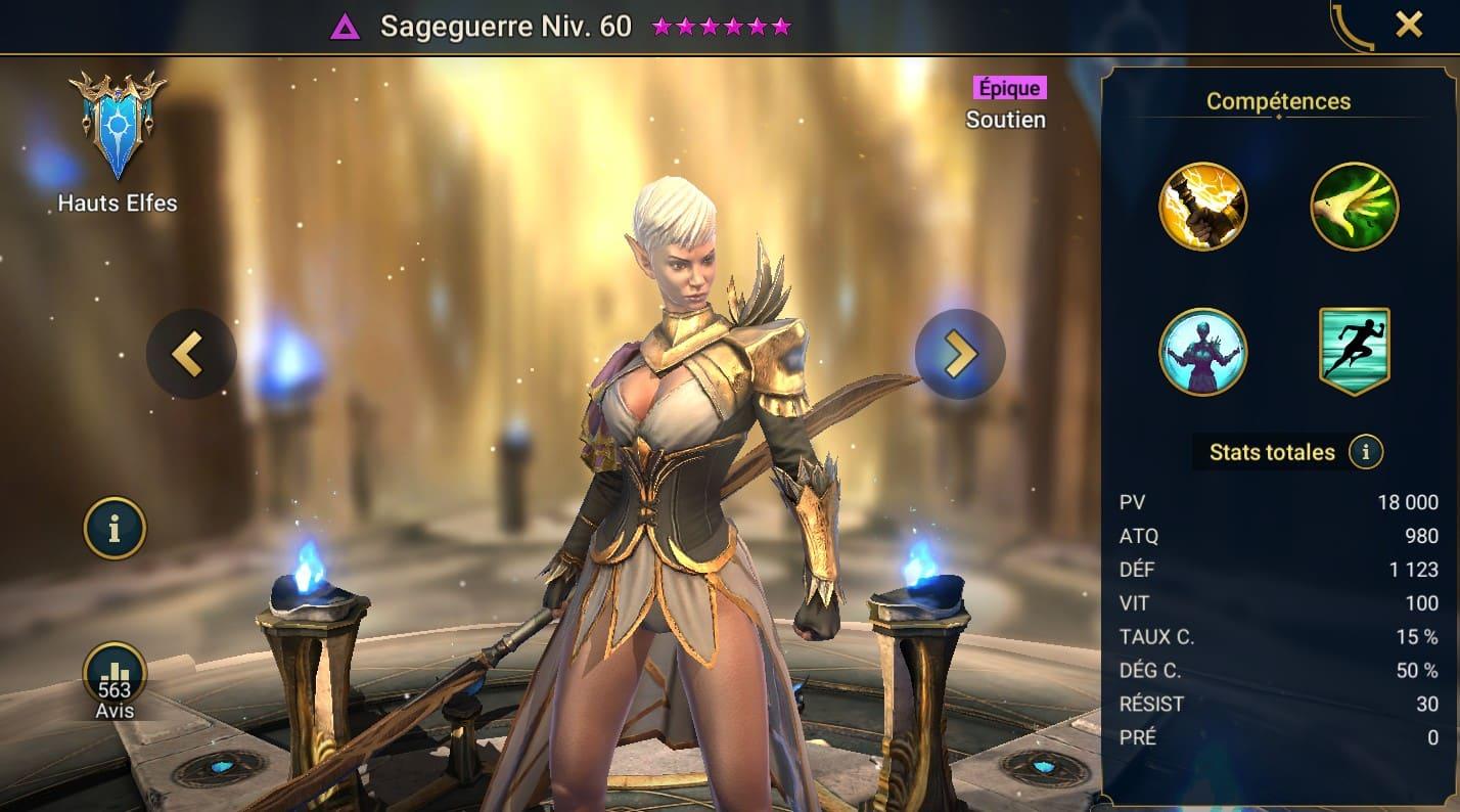 guide maitrises et artefact Sageguerre (Battlesage)