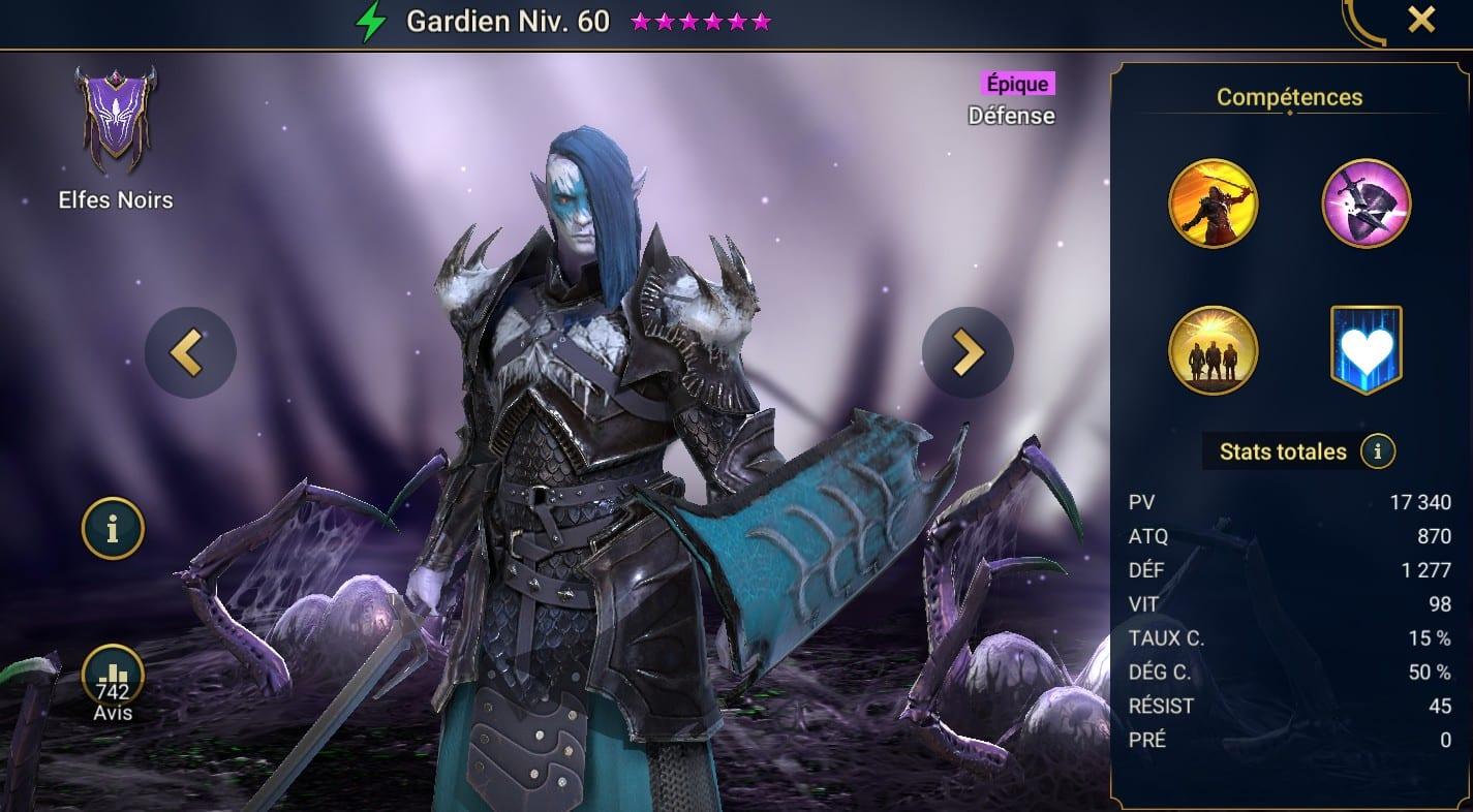 guide maitrises et artefact pour Gardien (Warden)