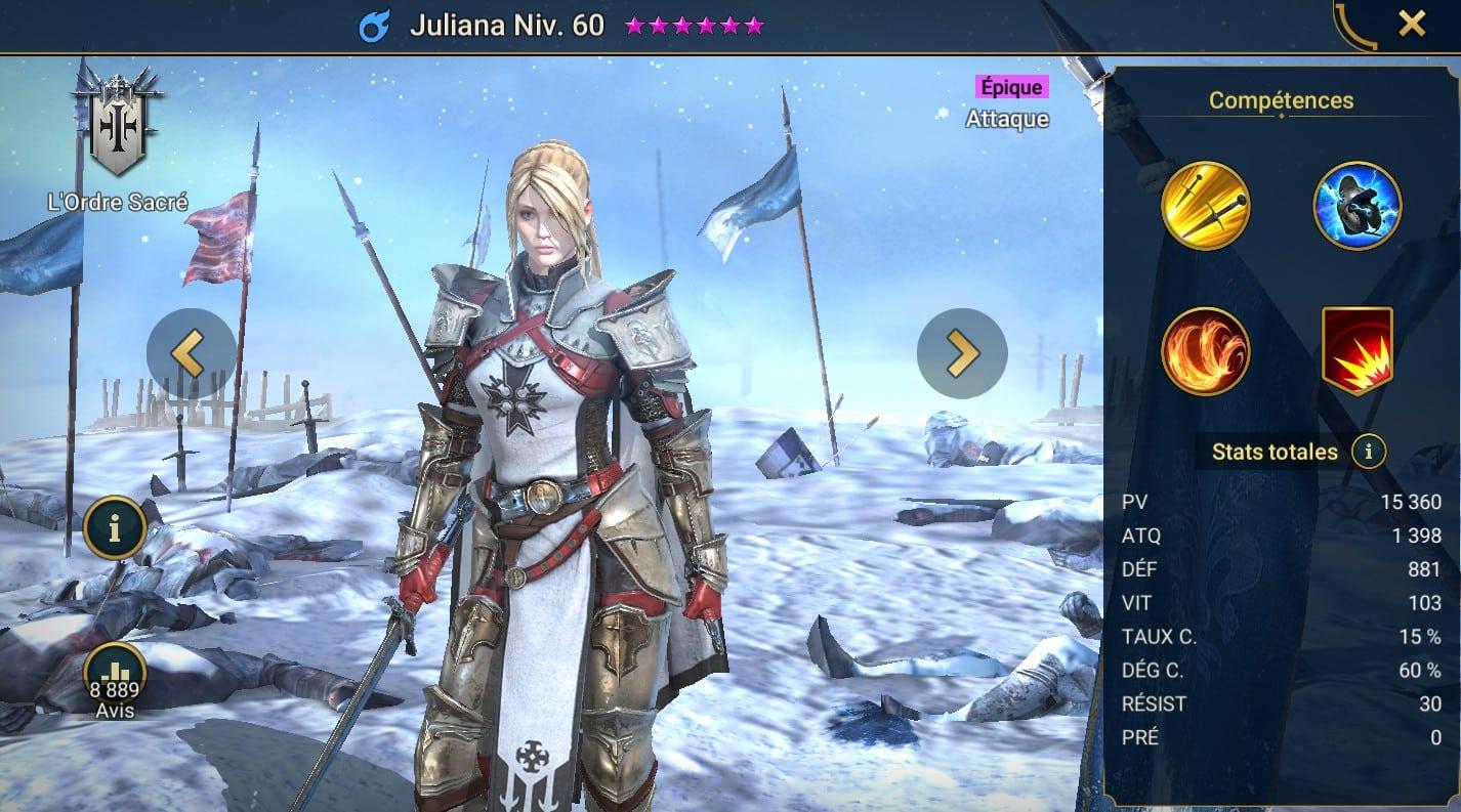 guide maitrises et artefact pour Juliana