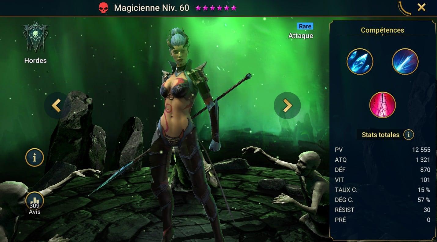 guide maitrises et artefact pour Magicienne (Sorceress)