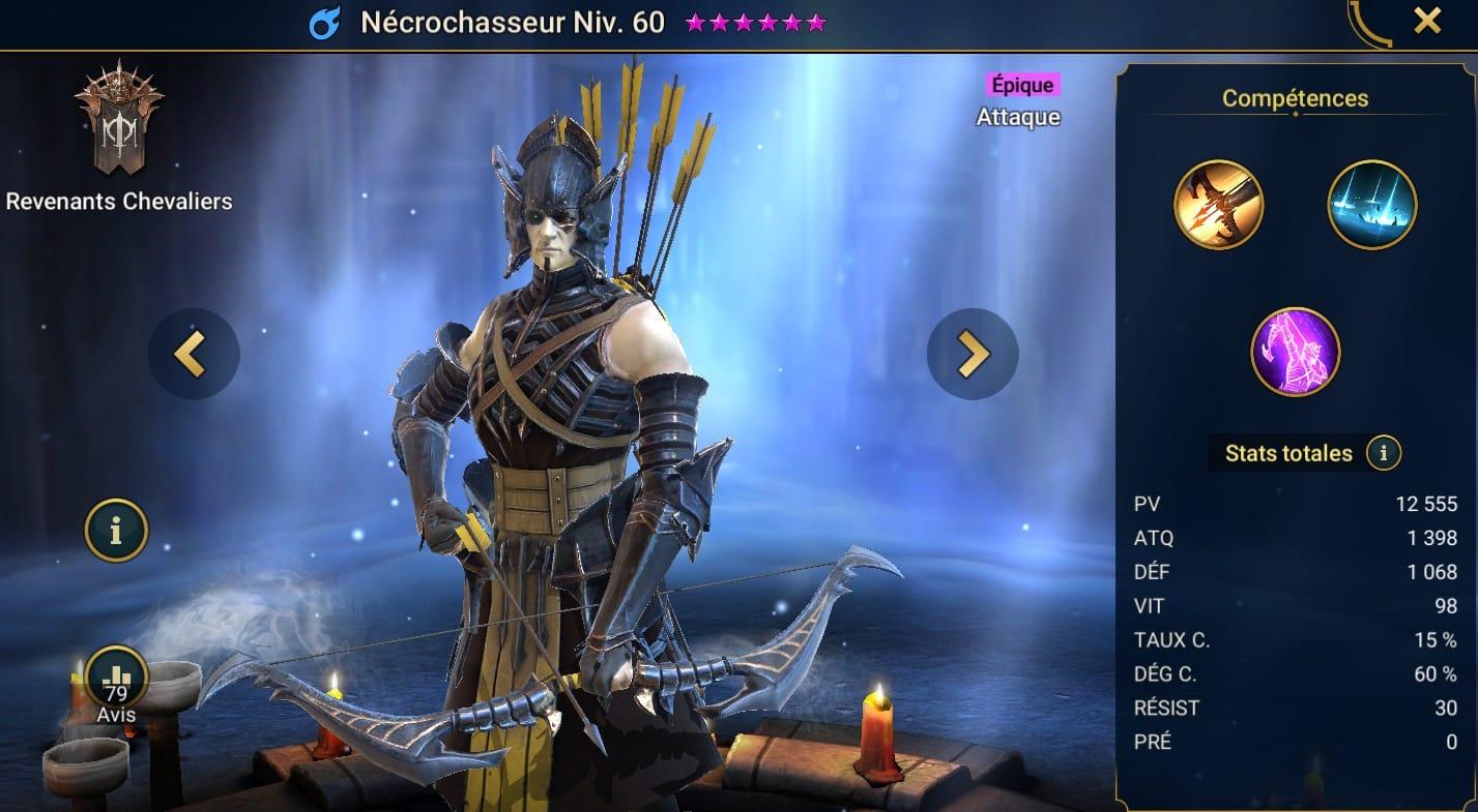 guide maitrises et artefact pour Nécrochasseur (Necrohunter)
