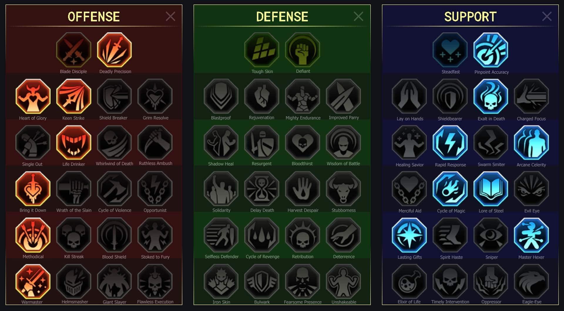 maitrises bdc pour Arrière-garde (Rearguard Sergeant)