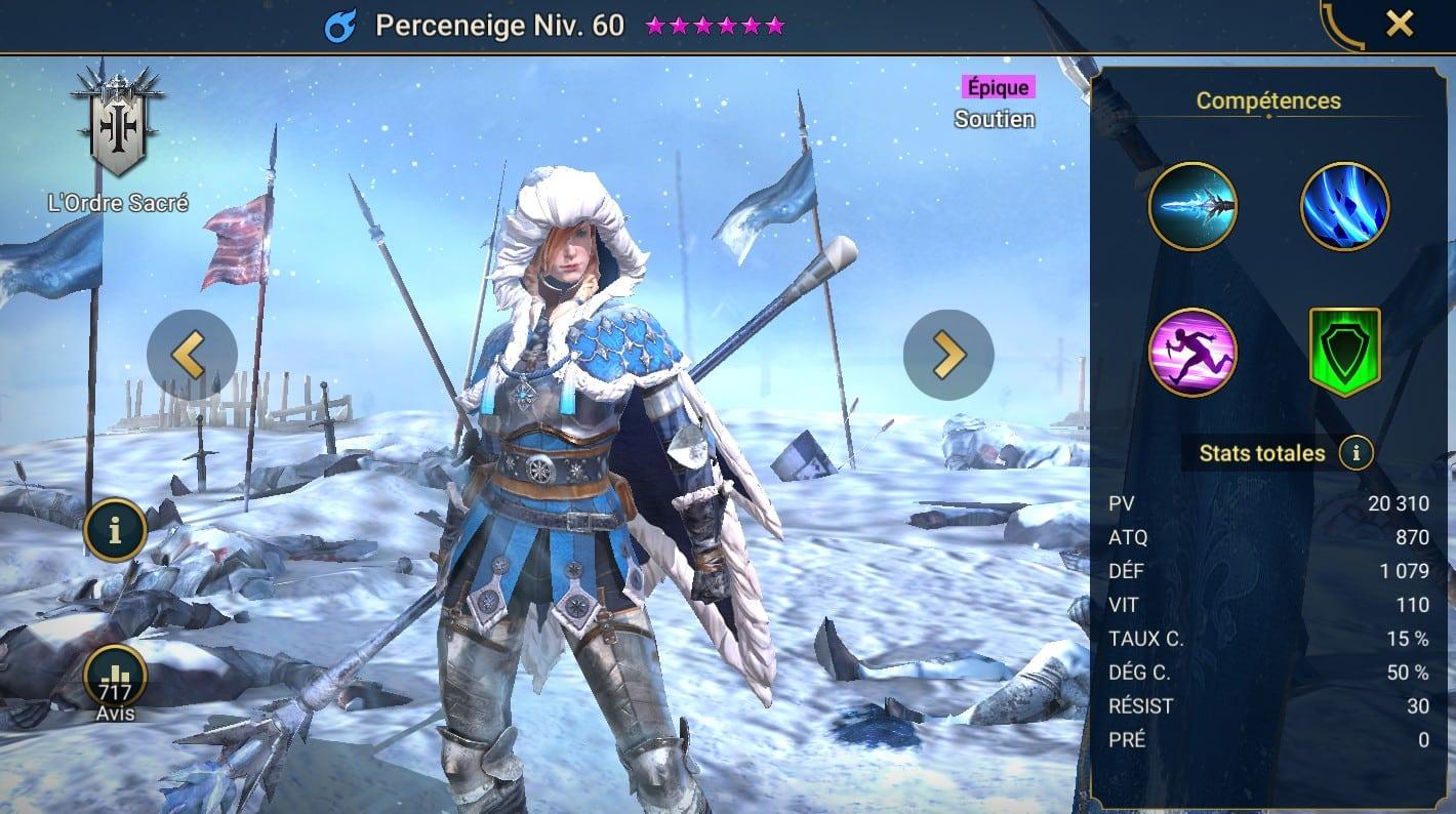 guide maitrises et artefact pour Perceneige (Frostbringer)
