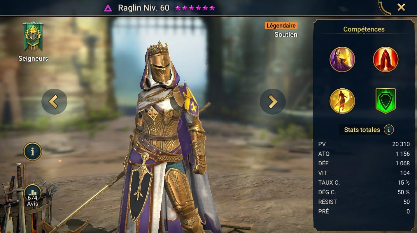 guide maitrises et artefact pour Raglin