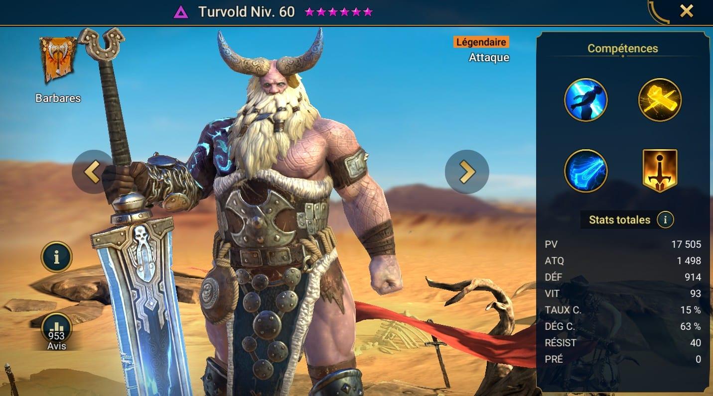 guide maitrises et artefact pour Turvold