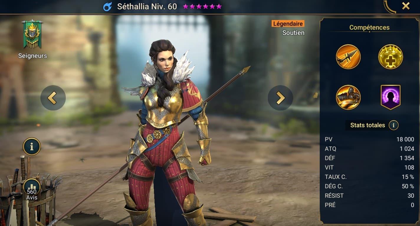 Guide maîtrises et artefact sur Séthallia