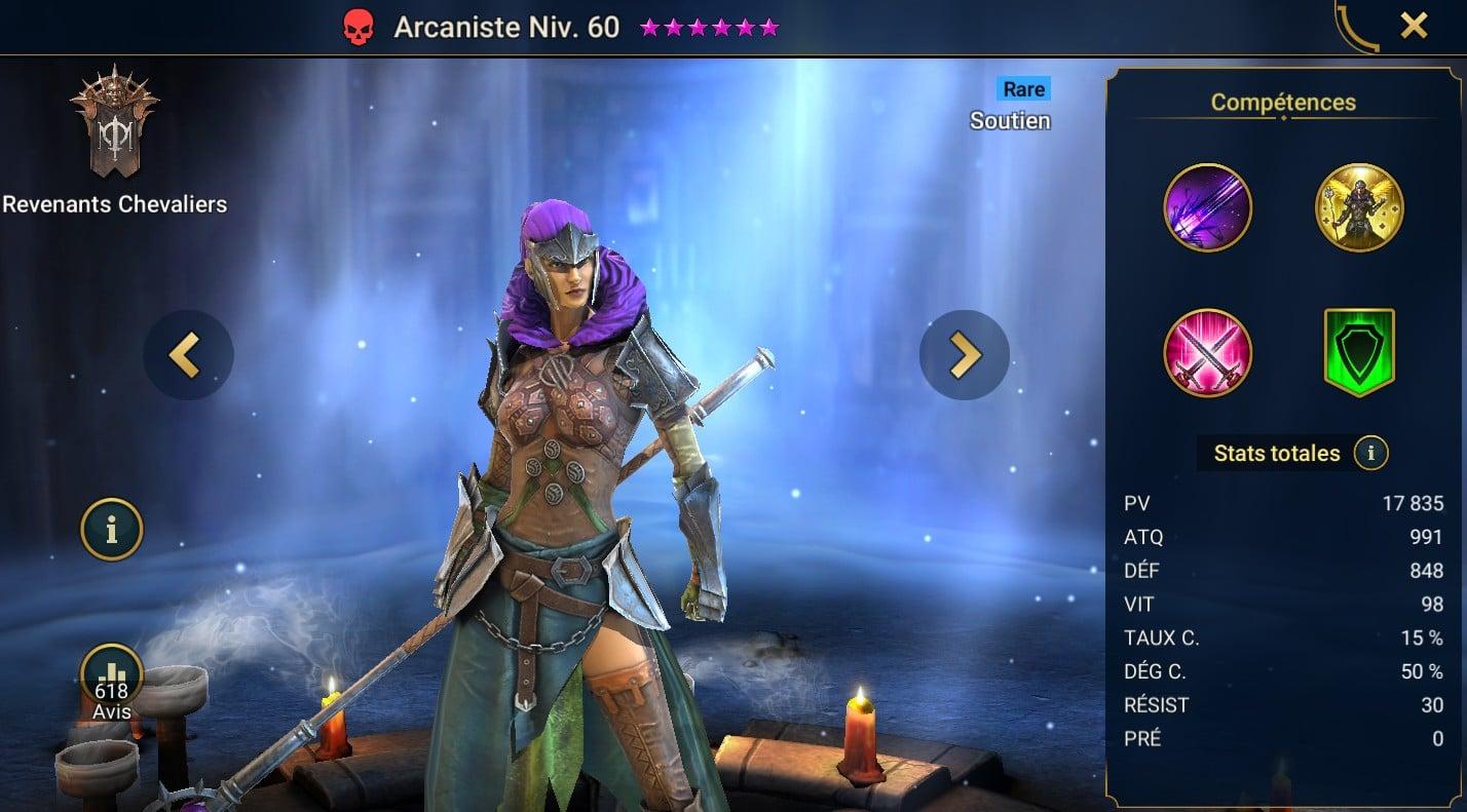 Guide maîtrises et artefact sur Arcaniste