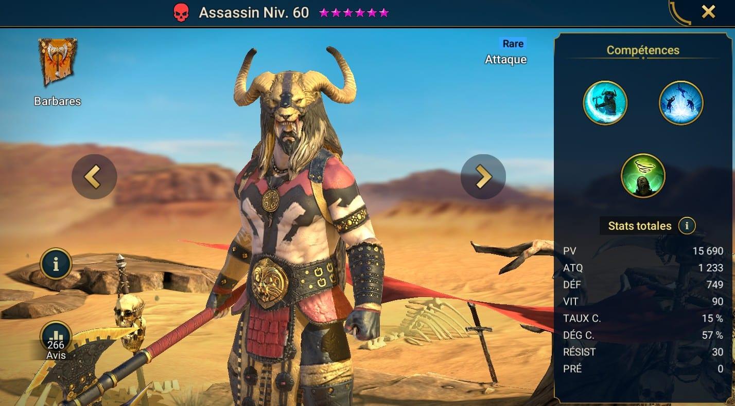 Guide maîtrises et artefact sur Assassin