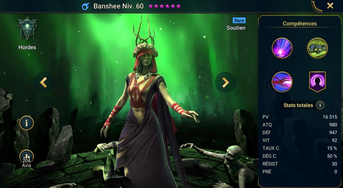 Guide maîtrises et artefact sur Banshee