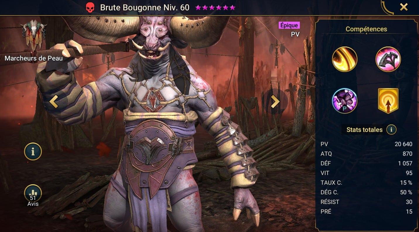 Guide maîtrises et artefact sur Brute Bougonne