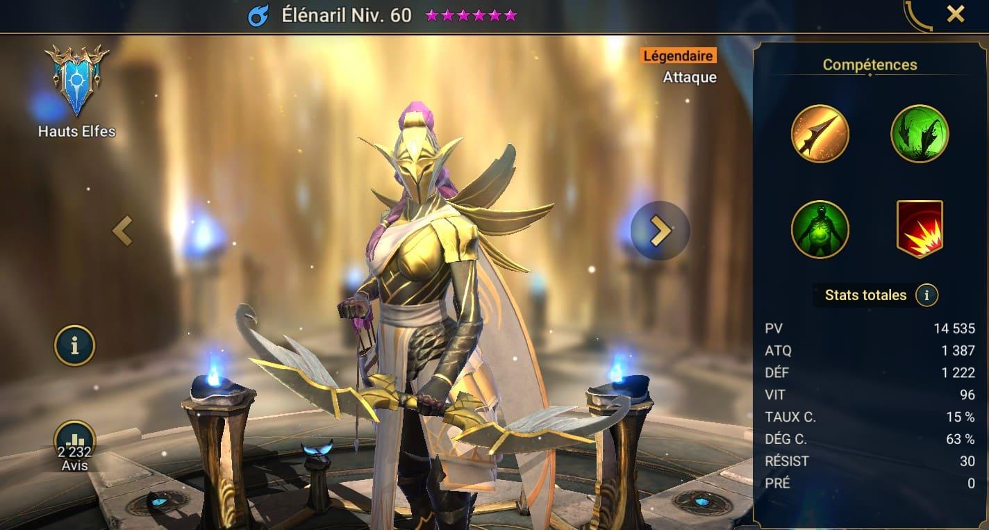 Guide maîtrises et artefact sur Elénaril