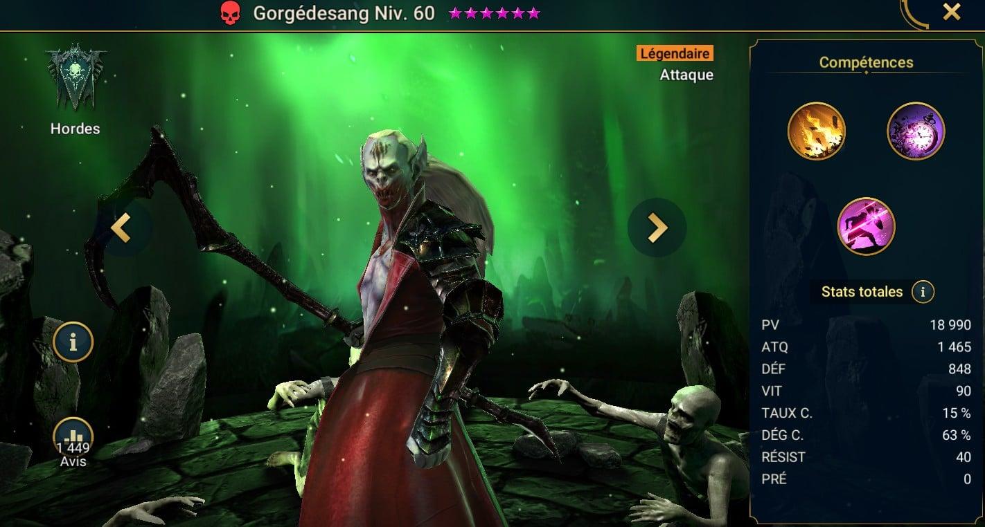 Guide maîtrises et artefact sur Gorgédesang