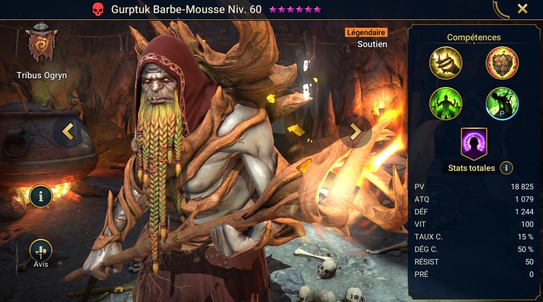 Guide maîtrises et artefact sur Gurptuk Barbe-Mousse