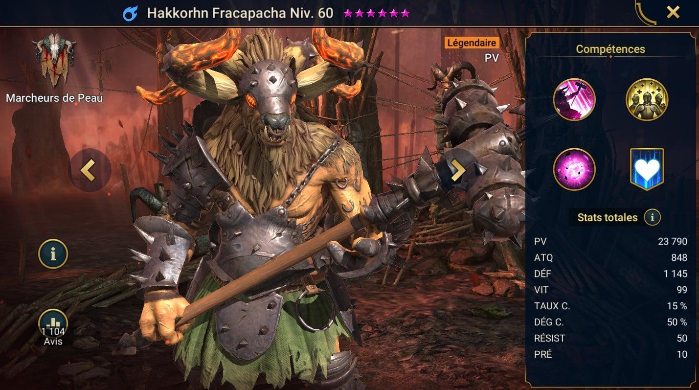 Guide maîtrises et artefact sur Hakkorhn Fracapacha