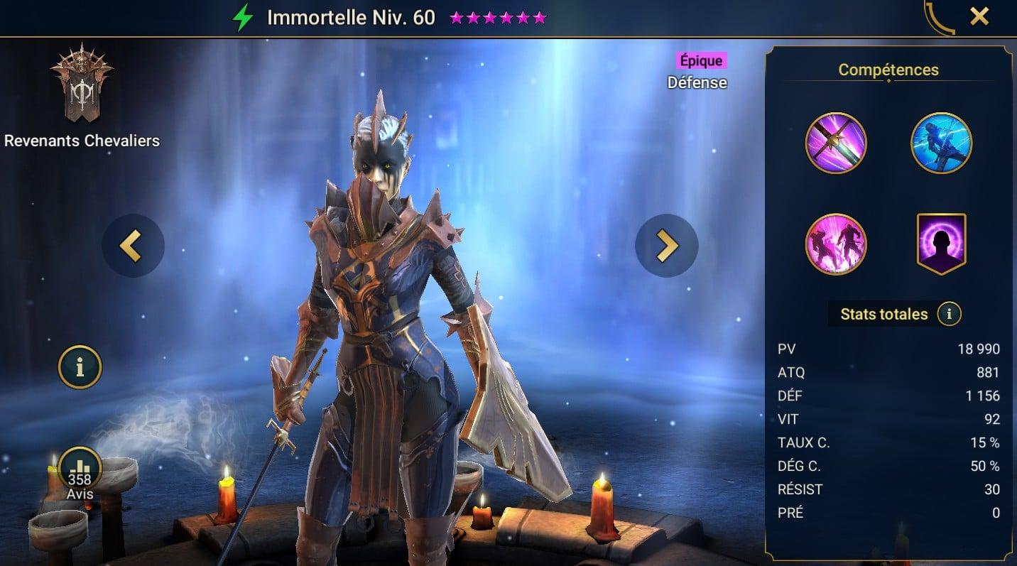 Guide maîtrises et artefact sur Immortelle