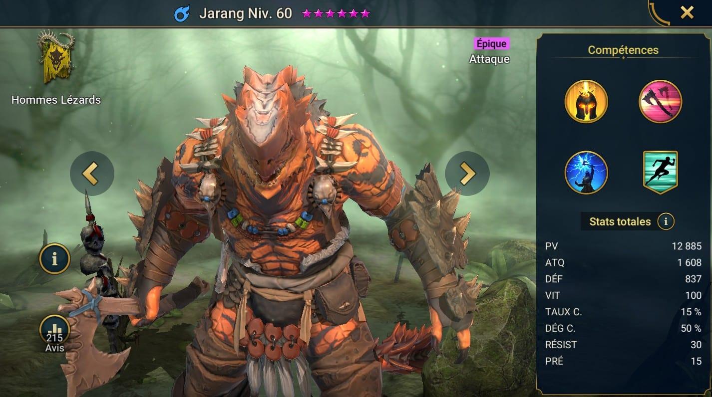 Guide maîtrises et artefact sur Jarang