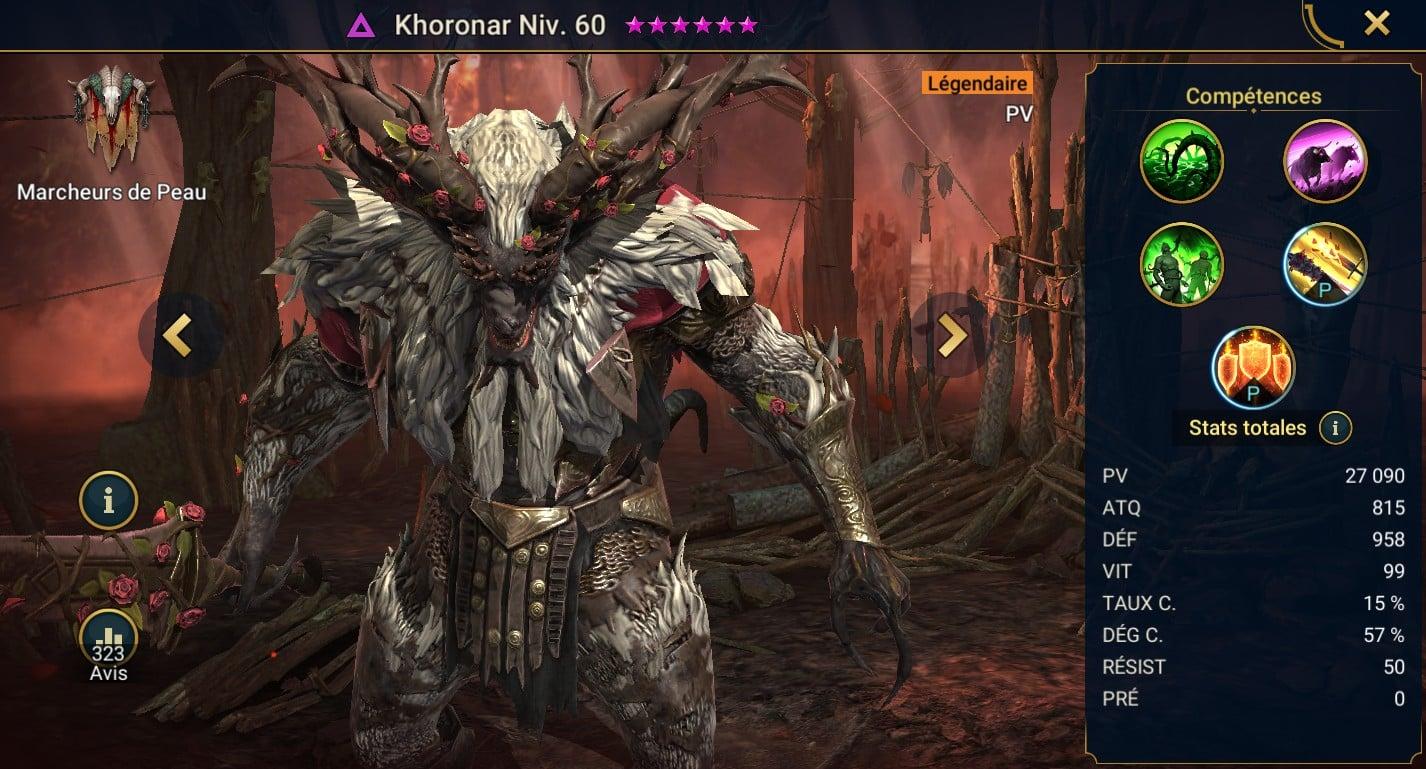 Guide maîtrises et artefact sur Khoronar