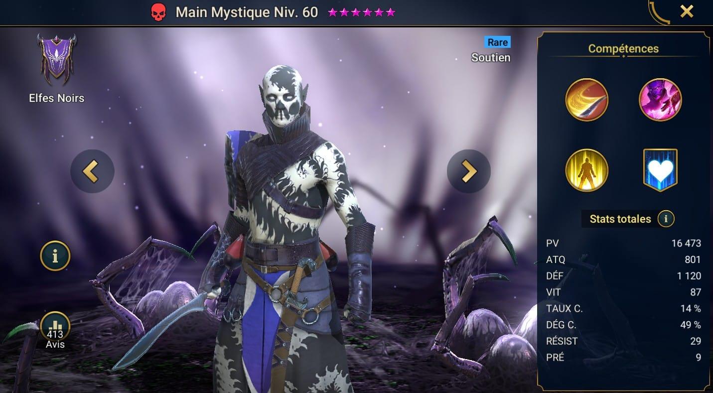 Guide maîtrises et artefact sur Main Mystique